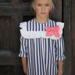 vestido-niña-rayas-coral-pilar-batanero-