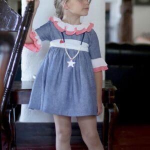 vestido-lino-volantes-azul-coral-pilar-batanero-