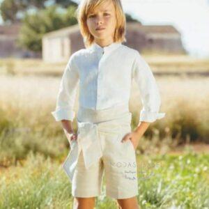 conjunto-niño-ceremonia-lino-beige-tres-chic-