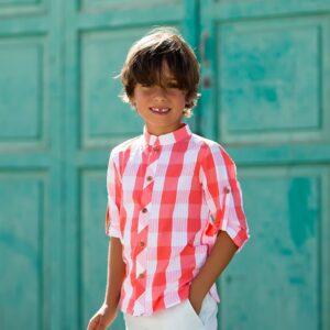 camisa-nino-cuadrotes-coral-kids-chocolate-