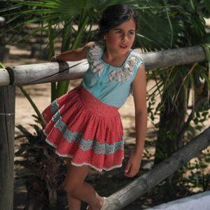 blusa-falda-coral-sanchez-vega-